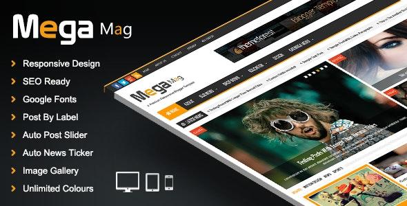 Mega Mag - Responsive Magazine Blogger Template - Blogger Blogging