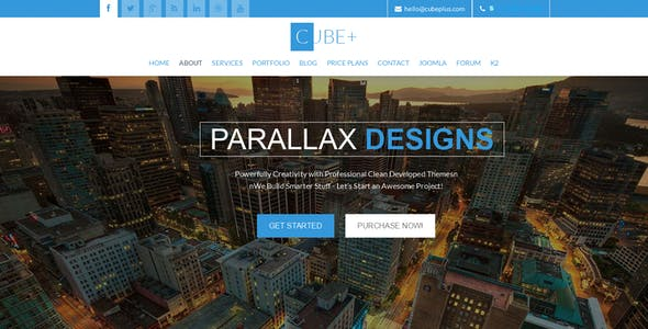 Cube+ | One Page Parallax Joomla Theme