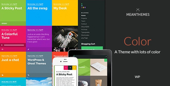Color: A Blog & Portfolio Theme with lots of color - Creative WordPress
