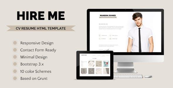Hireme - Responsive Resume Template