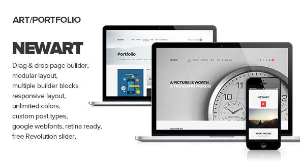 NewArt - Stylish Art & Portfolio Theme - Portfolio Creative