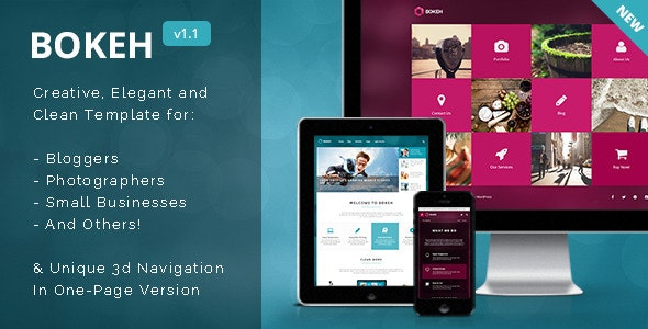 Bokeh HTML Template for Blog, Portfolio & Business - Portfolio Creative