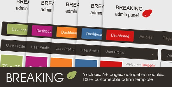 Breaking Admin Panel - Admin Templates Site Templates