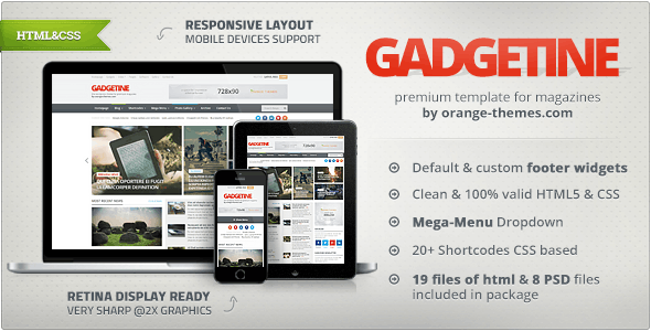 Gadgetine - Responsive News and Magazine HTML - Technology Site Templates