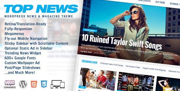 Top News - WordPress News & Magazine Theme - News / Editorial Blog / Magazine