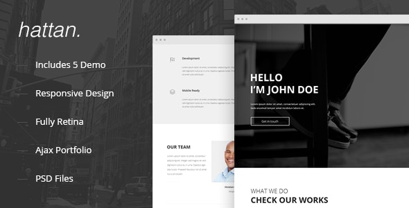 Hattan - Creative Onepage Multipurpose Template - Creative Site Templates
