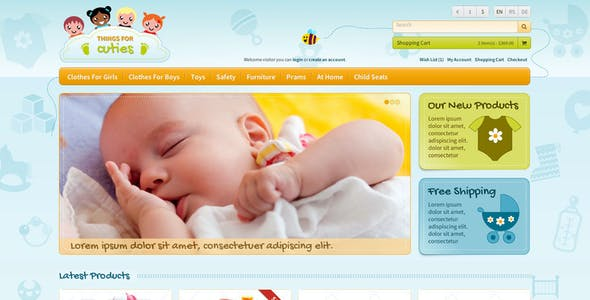 Things for Cuties - the E-Commerce Baby & Kids Shop Template