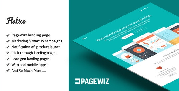 Flatico - Pagewiz Landing Page Template - Pagewiz Marketing