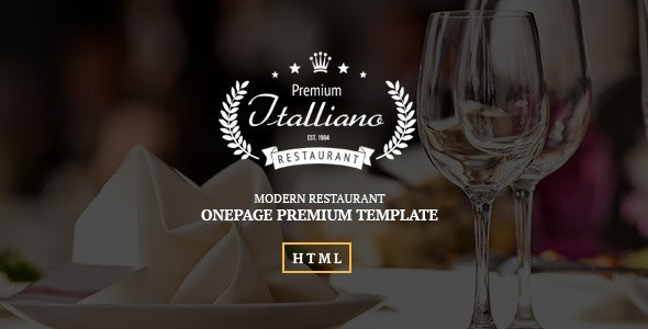 Italliano - Clean Premium Restaurant Template - Restaurants & Cafes Entertainment