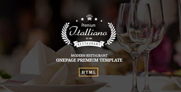 Italliano - Clean Premium Restaurant Template