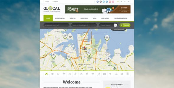 Glocal - Responsive Directory Template