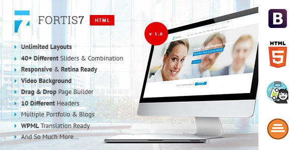 Fortis7 - Multipurpose Business Template - Corporate Site Templates