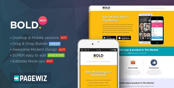 BOLD - Pagewiz App Landing Page Template - Pagewiz Marketing