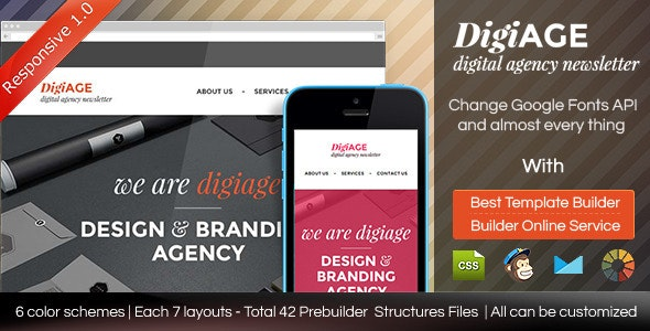 AGENCY - Responsive Email Template With Builder - Email Templates Marketing