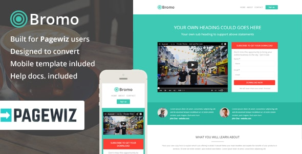 Bromo, Conversion Optimized Landing Page, Pagewiz - Pagewiz Marketing