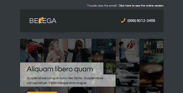 BELEGA-Flat Responsive Email With Template Builder