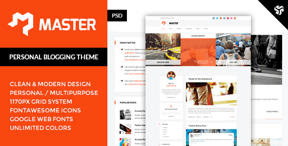 Master - Personal Blog Theme - Personal Photoshop