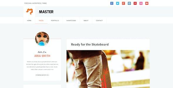 Master - Personal Blog Theme