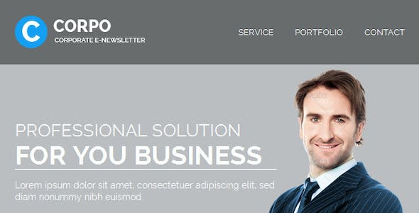 CORPO - Responsive Email Template With Builder