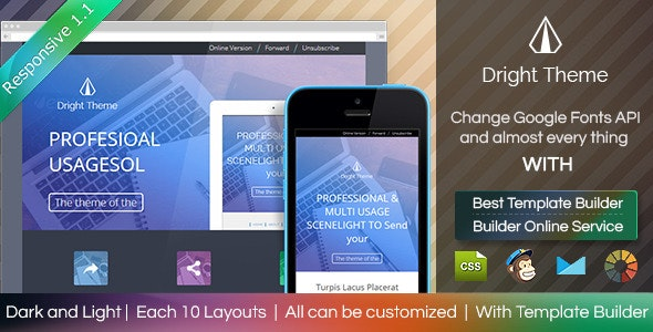 Digit Theme - Responsive Email Template + Builder - Email Templates Marketing