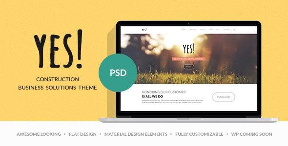 Yes! | Multi Purpose PSD Template - Photoshop UI Templates