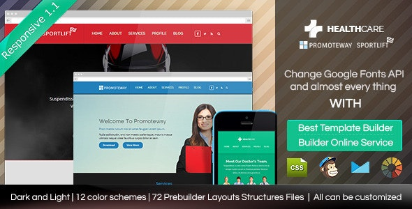 Health Care - Responsive Email Template + Builder - Email Templates Marketing