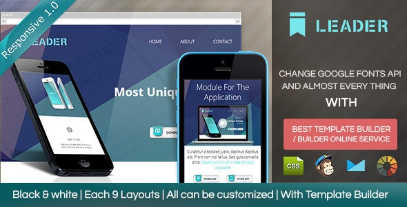 Leader - Responsive Email Template with Builder - Email Templates Marketing