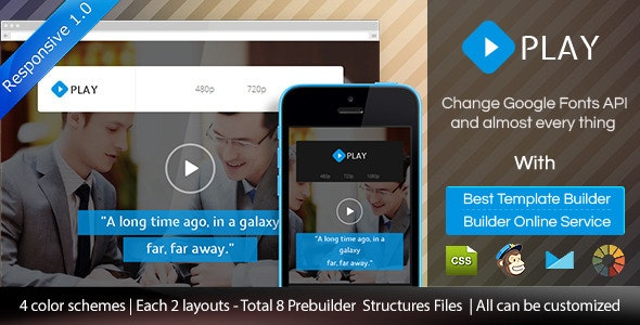 Play - Responsive Video Email Template + Builder - Email Templates Marketing