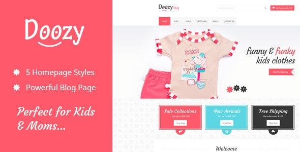 Doozy -  eCommerce & Blog PSD Template - Children Retail