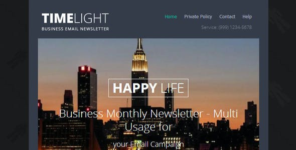 TIMELIGHT - Responsive Email With Template Builder