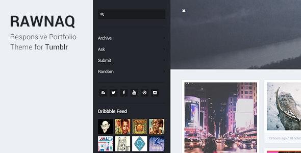 Rawnaq - Responsive Portfolio Theme For Tumblr - Portfolio Tumblr