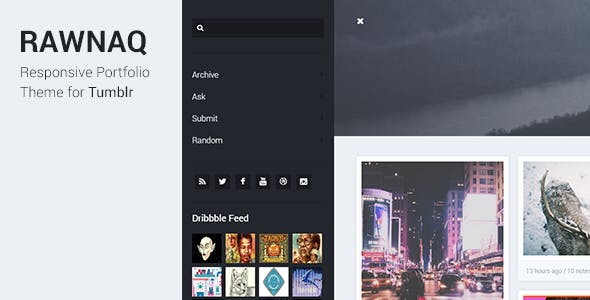 Rawnaq - Responsive Portfolio Theme For Tumblr