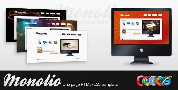Monolio - One Page Portfolio (4 Skins) - Creative Site Templates