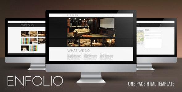 Enfolio – Premium One Page HTML Template - Portfolio Creative