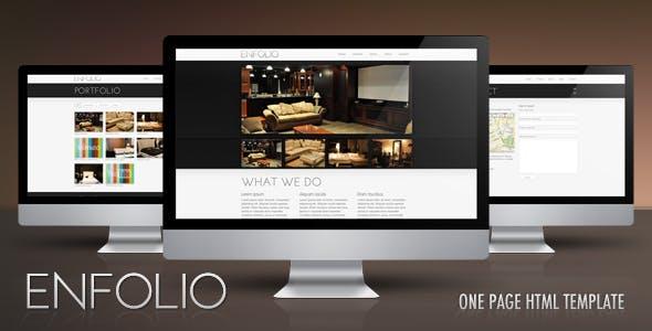 Enfolio – Premium One Page HTML Template