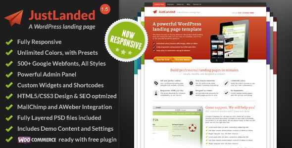 JustLanded - WordPress Landing Page - Marketing Corporate