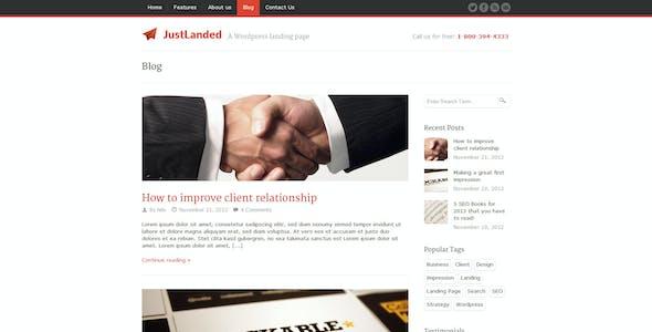 JustLanded - WordPress Landing Page