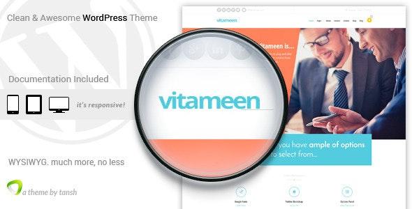 Vitameen Business Responsive WordPress Theme - Business Corporate