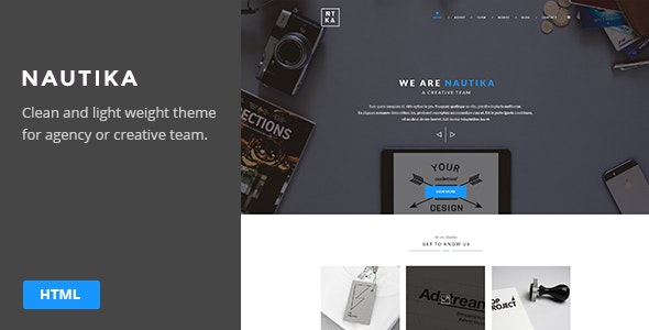 Nautika - One Page Landing Theme - Site Templates