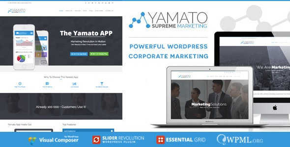 YAMATO - Corporate Marketing Wordpress Theme - Marketing Corporate