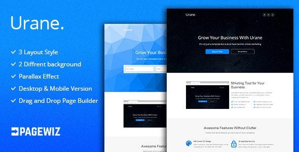 Urane - Pagewiz Landing Page Template - Pagewiz Marketing