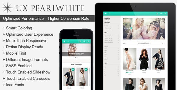 UX Pearlwhite | Fast Responsive Magento Theme