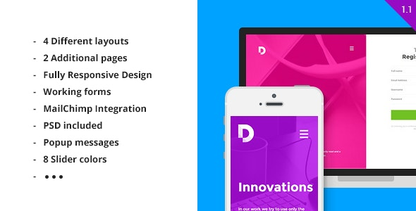 Duos - Multipurpose HTML5 Landing Page - Creative Landing Pages