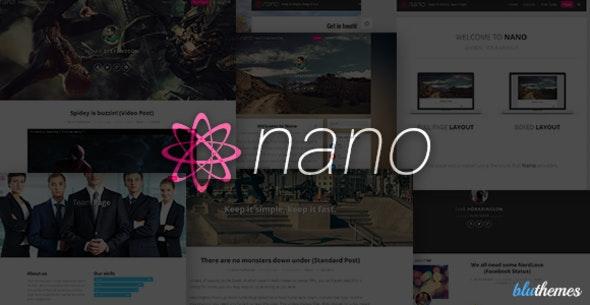 Nano | Minimalist & Highly Customizable WP Blog - Personal Blog / Magazine