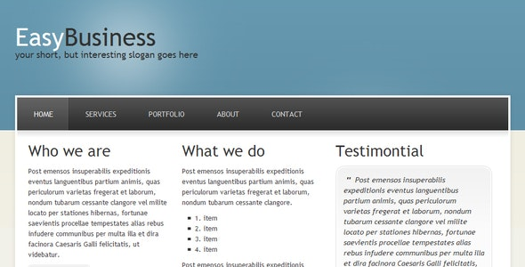EasyBusiness | Clean&Modern Business Template - Business Corporate