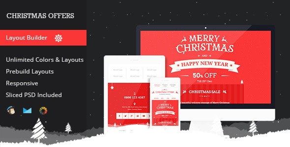 Christmas Offers Responsive Email Template - Email Templates Marketing