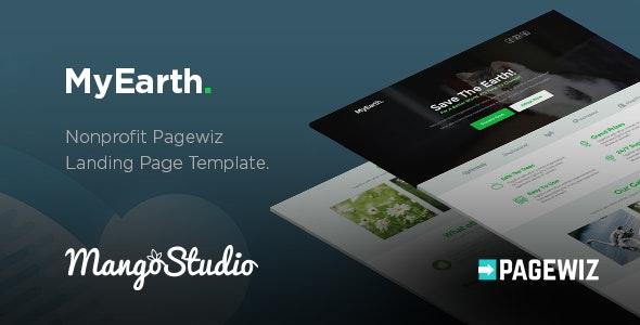 MyEarth - Nonprofit Pagewiz Landing Page Template - Pagewiz Marketing