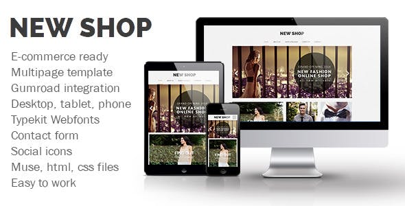 Download New Shop Muse Template