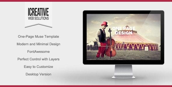 iCreative - Portfolio Muse Template - Creative Muse Templates