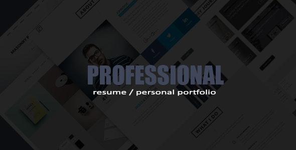 Professional Resume / Portfolio HTML Template - Portfolio Creative
